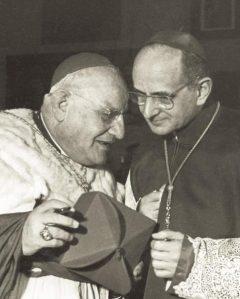 Roncalli e Montini, i futuri Giovanni XXIII e Paolo VI.