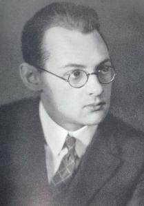 Il giovane von Balthasar nel 1927.