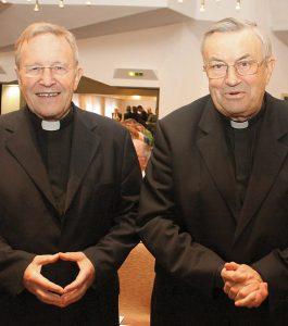 I cardinali Kasper e Lehmann, discepoli di Rahner.