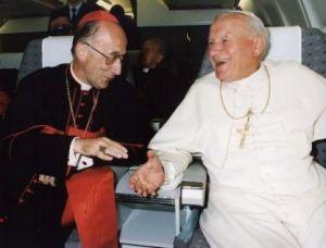 Ruini con Giovanni Paolo II