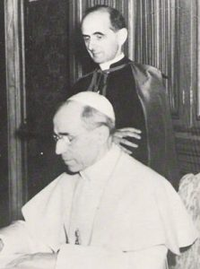 Pio XII con lallora mons. Montini.