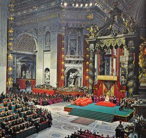 Seduta del Vaticano II del 1962.