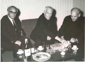 Pedro Arrupe con Henri de Lubac e Karl Rahner, esponenti della
