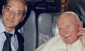 """Volando"" con un papa santo..."