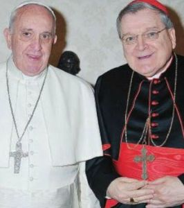 Il card. Burke con papa Francesco