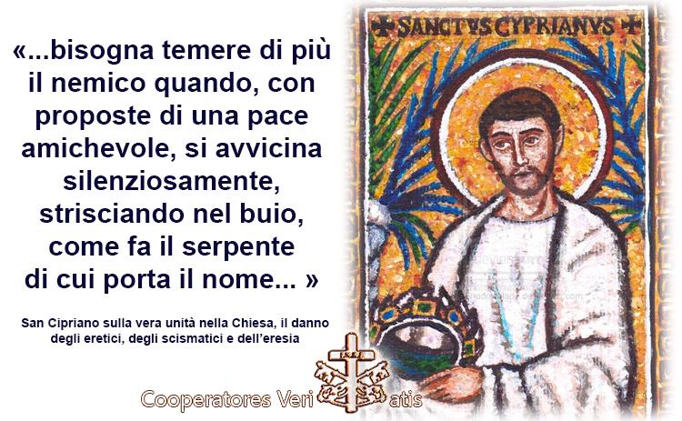 San Cipriano origine delle eresie e degli scismi testo originale