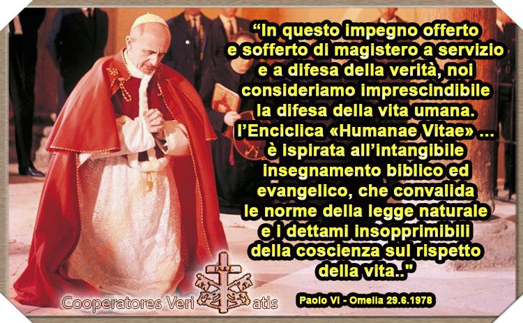 L'Humanae Vitae, infallibile e profetica