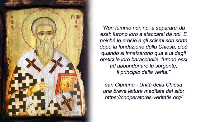 San Cipriano ci spiega l'eresia e la vera unità nella Chiesa – Cooperatores Veritatis