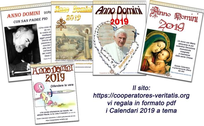 Calendario Cattolico.Calendari 2019 Gratuiti Da Scaricare In Formato Pdf