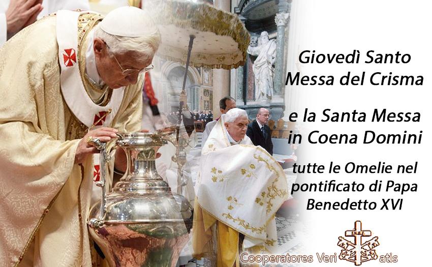Giovedì Santo insieme al Magistero integrale di Benedetto XVI