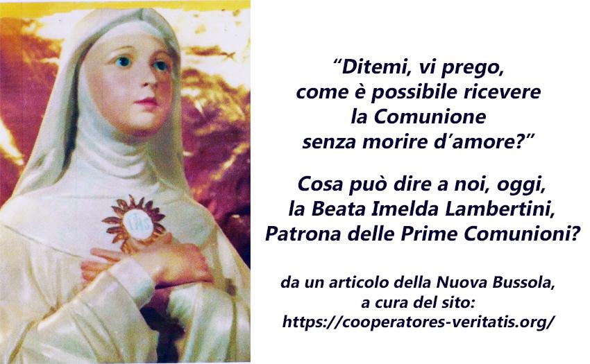 La Beata Imelda e la Santa Comunione