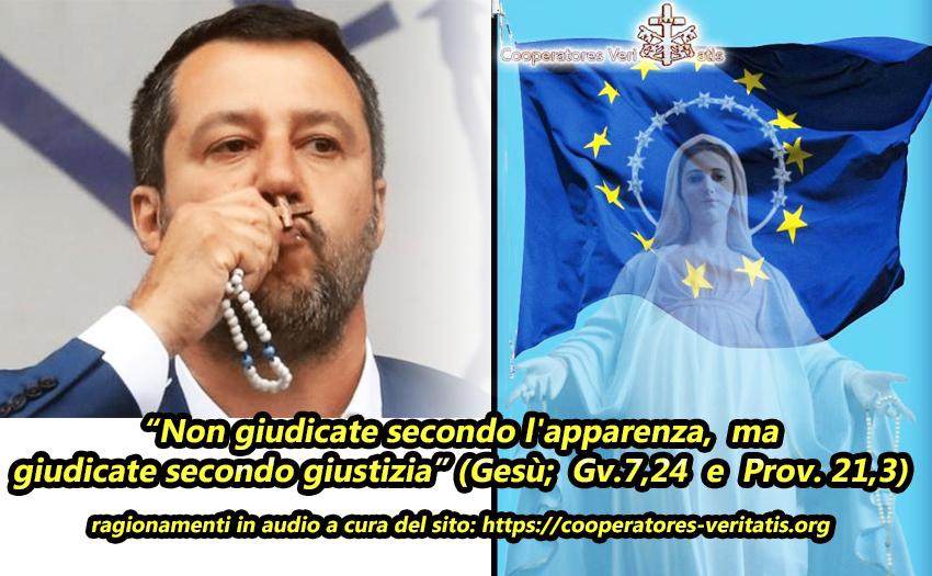 Ha fatto bene Salvini a parlare con il Rosario per il futuro dell'Europa?