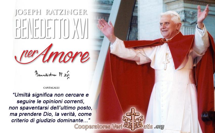 Benedetto XVI testi inediti, in audio, sul vero Amor di Dio per noi e noi a Lui