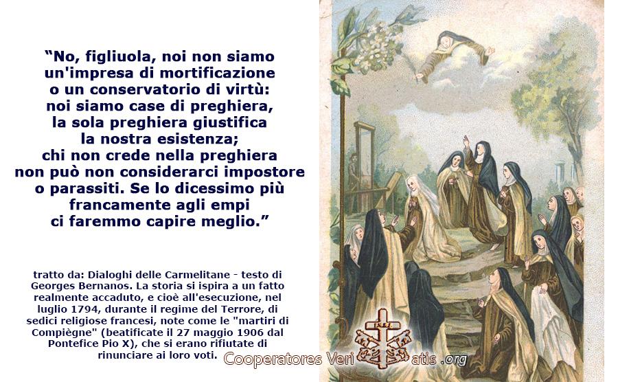 """""""Dialoghi Carmelitane"""" testo integrale tratto dall'opera di Georges Bernanos"""